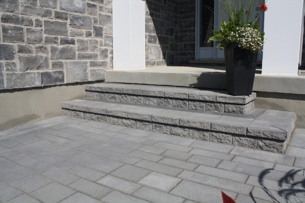 built driveway pavers